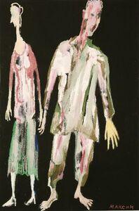 Maxim Kantor, 'TWO FIGURES', c.1990