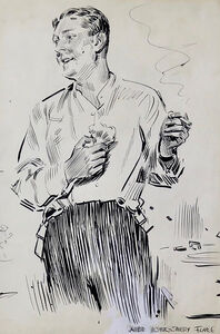 James Montgomery Flagg, 'Gentleman in Partial Evening Dress', 20th Century