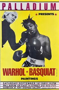 Jean-Michel Basquiat, 'Warhol Basquiat Boxing Poster (Warhol Basquiat The Palladium)', 1985