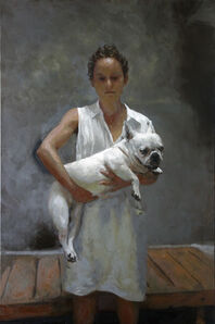 Rafel Bestard, 'Woman with dog', 2019