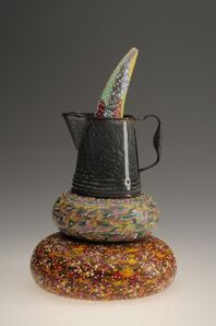 Richard Marquis, 'Horn Through Graniteware Coffeepot Doorstop                   ', 2013