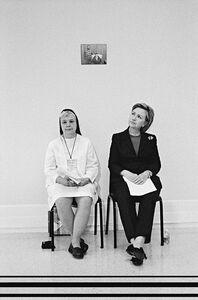 Diana Walker, 'Senator Hillary Clinton with Felician Nun Sister Johnice, New York', 2006