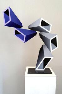 Daniel Sanseviero, '5 two-toned elongated boxes illusion sculpture ', 2016