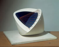 Sculpture with Colour (Deep Blue and Red) (6)