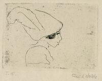 Mädchenprofil (Mädchen mit Hut) (Girl Profile (Girl with Hat))
