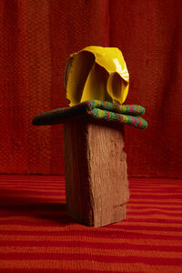 Lorenzo Vitturi, 'Yellow Cotisso, Manta and Eucalyptus Wood', 2019