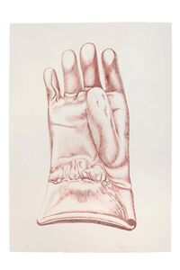 Giacomo Porzano, 'Red Glove', 1972