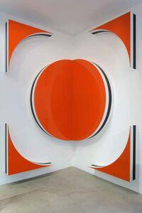 Daniel Buren, 'Quand les carrés font des cercles et des triangles, hauts-reliefs situés - H / 1 Carré = 1 Cercle + 4 Triangles', 2010