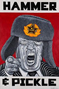 Robbie Conal, 'Donald J. Trump (Hammer & Pickle)', 2017