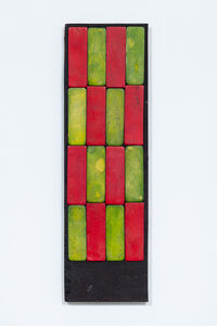 Luis Romero, 'Damero Largo (Rojo y Verde)', 2019