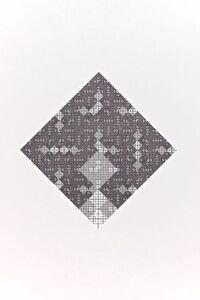 Jean-Pierre Hebert, 'Losange récursif d'une seule ligne noire, motif carré', 1975-1977