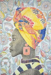 Gary Stephens, 'LESEGO WITH YELLOW DOEK', 2020