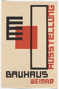 Kurt Schmidt, 'Bauhaus Postcard', 1923
