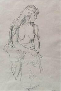 Matthew Smith, 'Seated Nude', 1928