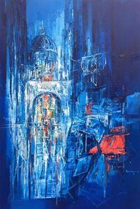 Roberto Di Viccaro, 'Vicolo in blue', ca. 2017