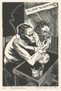 Bernard Brussel-Smith, 'Meditation or Cafeteria Philosopher', 1940