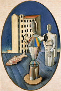 Carlo Carrà, 'Oval of Apparitions ', 1918