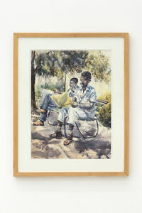 Durant Sihlali, 'Reading under the tree', 1976