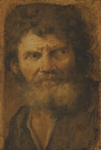Circle of Pier Francesco Mola, 'Head of an old man'