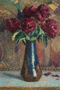Henri Martin, 'Pivoines rouges dans un vase Dalpayrat', Unknown