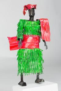 Sokari Douglas Camp, ' Yoruba Lady, Green Tassels, Pink Shawl', 2008