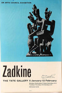 Ossip Zadkine, 'Tate Gallery Exhibition', 1961
