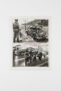 David Claerbout, 'Highway Wreck Drawing (Car Is Shiny New Yet Old)', 2013