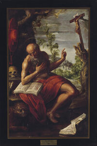 Juan Correa, 'Saint Jerome in the Wilderness'