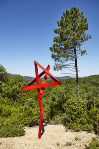 Mark Handforth, 'Red on red (Standing Star)', 2017