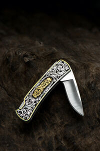 Buddy Austin, 'Hand-engraved Knife with Gold Inlay', 2018