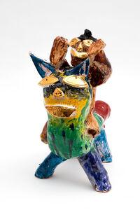 Ramesh Mario Nithiyendran, 'Cat with Brown figure', 2020