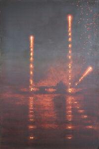 Stephen Hannock, 'Incendiary Nocturne; Bridge Launch (Mass MoCA #221)', 2015