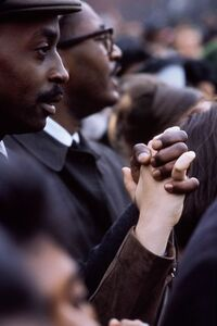 Henri Dauman, 'Black and White Hands Joined in Civil Rights Protest', 1965