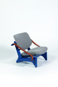 Olof Ottelin, 'Jumbo chair in leather, wood and wool', vers 1950