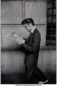 Alfred Wertheimer, 'Elvis Reading Newspaper', 1956