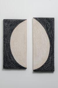Shizue Imai, 'Black & White Half Moon Diptych'