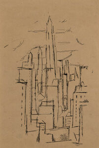 Niles Spencer, 'Untitled City Buildings (a double sided work)'