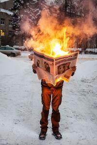 Tim Parchikov, 'Burning News', 2011
