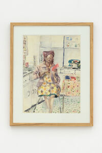 Durant Sihlali, 'Reading in the kitchen', 1974
