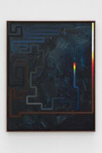 Julian Hoeber, 'Black/Blue Meander', 2020