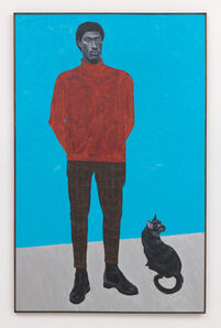 Otis Kwame Kye Quaicoe, 'Man and his Black Cat', 2019