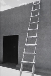 Todd Webb, 'Ladder and Adobe Wall, Georgia O'Keeffe's Abiquiu House, New Mexico', 1957