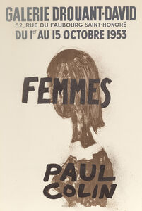 Paul Colin, 'Femmes, Galerie Drouant-David', 1953
