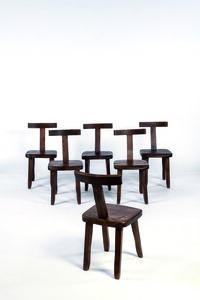 Olavi Hänninen, 'Set of six chairs', vers 1950