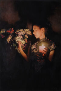 Zhang Yibo, 'Woman by Candlelight', 2015