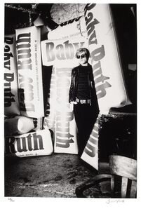 Billy Name, 'Andy Warhol with giant Baby Ruth bars', 1966