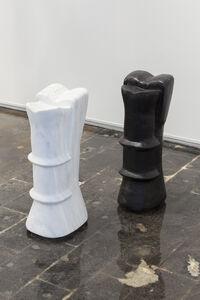 Kathleen Schneider, ' Still Life: Statuette (white), Statuette (black)', 1991