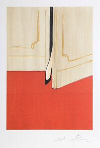 René Gruau, 'Petite Foot in the Doorway', ca. 1990