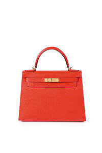 Hermès, 'A 28cm Rouge Tomate Epsom Leather Sellier Kelly Bag'