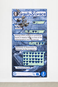 Thomas Hirschhorn, 'Gravity and Grace (Chat-Poster)', 2020